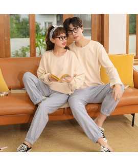 Winter trend new couple gray long-sleeved trousers...