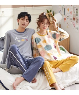 Men and women couples pure cotton cute sweet home ...