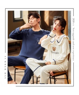 Couple Korean style long-sleeved casual new cotton...