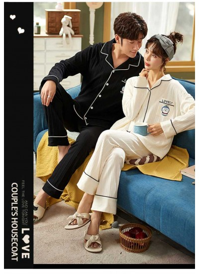 Sweet and cute comfortable casual knitted cotton korean version couple home service