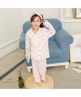 children's pure cotton pajama sets for spring casual sleepwear sets for boys and girls