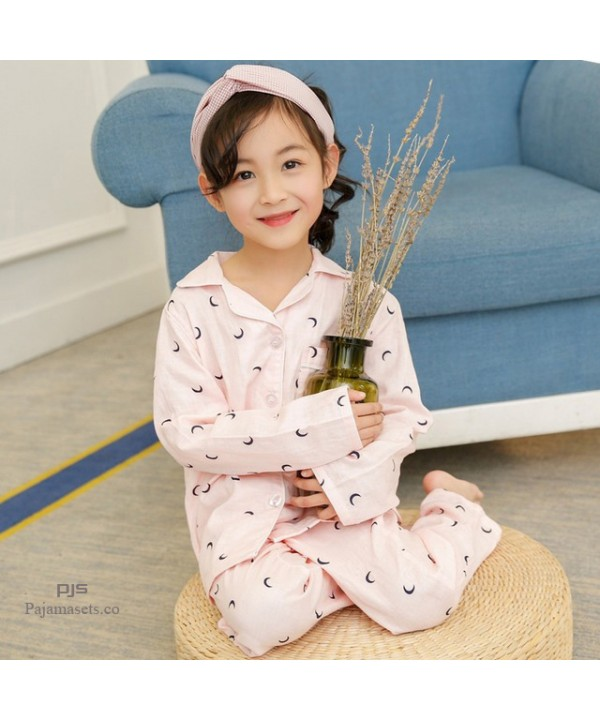 children's pure cotton pajama sets for spring casu...