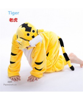 babies' Long sleeve cartoon animal flannel pajamas cute sleepwear sets for children