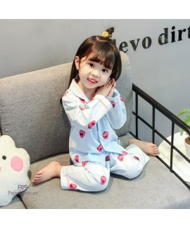 Long Sleeve Children's Two Sets of pajamas for spring comfy sleepwear sets for boys and girls