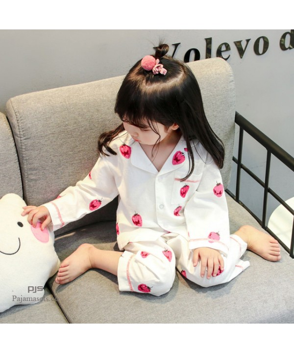 Long Sleeve Children's Two Sets of pajamas for spr...