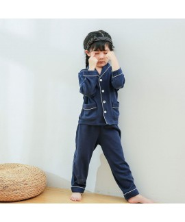 Children's two set of pajamas for spring 2019 pure cotton sleepwear for boys and girls