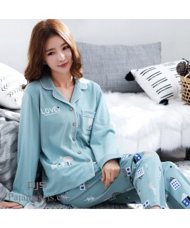 Long Sleeve Women's Cotton Pyjama sets for spring ...