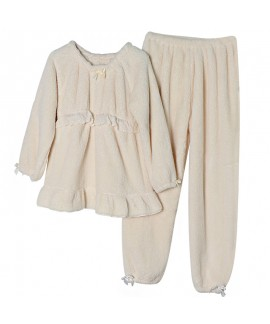 New Warm Flannel Nursing Ladies Pajama Set