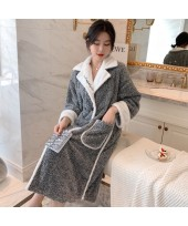 Cute Embroidery Cationic Ladies Flannel Nightdress...