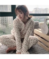 New Leopard Hooded Warm Wearable Flannel Women's P...