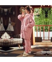 Pink Pineapple Plus Warm Ladies Flannel Pajama Sui...