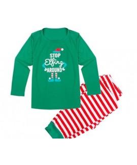 Christmas parent-child pj sets comfy print family lounge pajamas