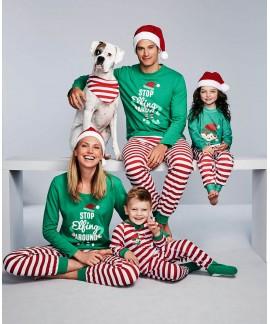 Christmas parent-child pj sets comfy print family ...