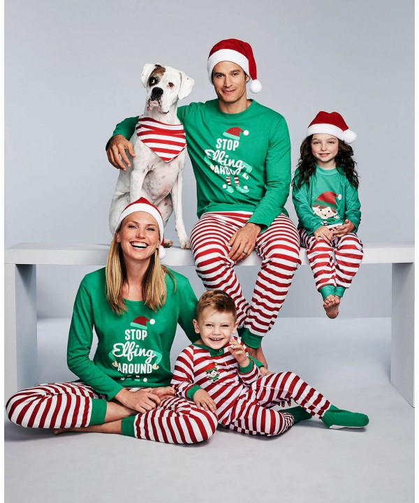 Christmas parent-child pj sets comfy print family ...