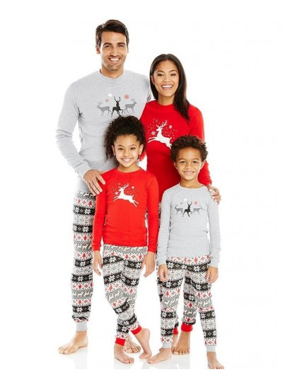 Long sleeves Christmas parent-child wear,simple Family clothing for Christmas