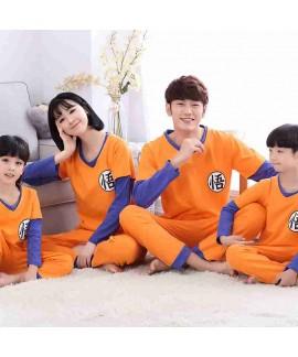 Spring parent-child pajamas Goku long sleeve cotto...