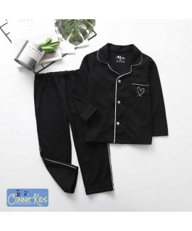 Autumn and winter long-sleeved cotton home service parent-child Family pajamas