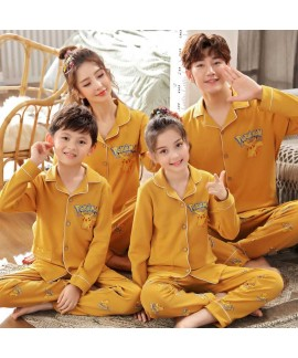 a family of three cotton clothing long-sleeved par...