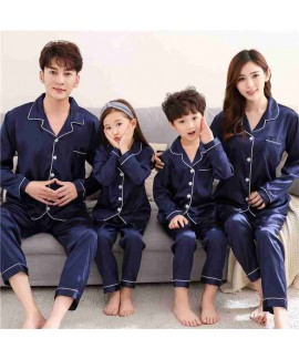 Spring mother and daughter pajamas family fitted i...