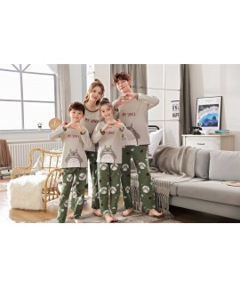 Cotton spring and autumn long-sleeved family of th...