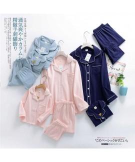 Korean spring home service cotton family clothing ...