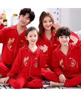 cotton boys and girls parent-child festive family ...