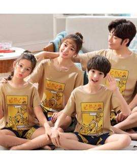 Summer Cotton short-sleeved parent-child family we...