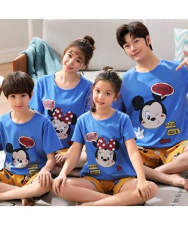 Summer Mickey Mouse Pajamas cotton short-sleeved f...