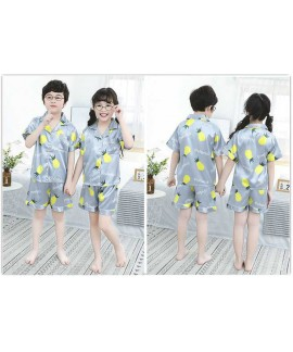Summer Family Of Three Short Sleeve Mother And Child Cute Cartoon Pajamas