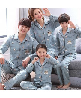 Spring a family of three long-sleeved night wear c...