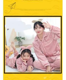 Children's flannel family wear thick Korean pajama...