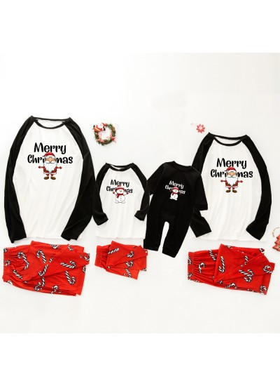 Christmas pajamas family with European and American parent-child wear