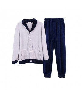 Thicker Winter Lovers Flannel Pajama Suit for Men
