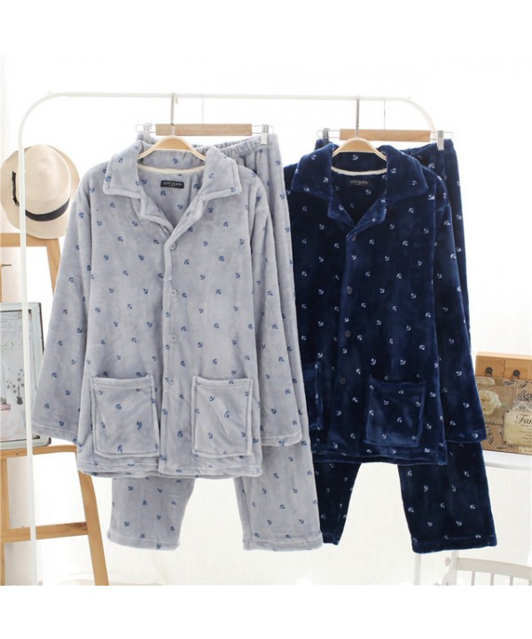 Thickened Flannel pjs cheap Men's pajamas Wholesal...