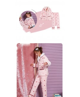 pyjamas Female Winter Three-tier Thickened Warm Keeping Flannel Suit for Fall and Winter Outside Pajamas