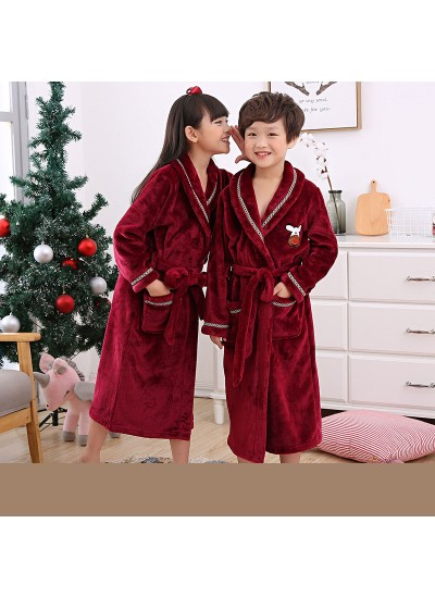 children's comfy pajamas and robe sets cheap flannel nightgown for boys and girls