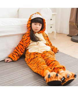 girls cartoon animal conjoined pajamas for spring comfy Onesie pj sets for children