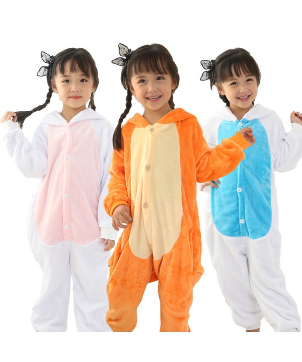 girls cartoon animal conjoined pajamas for spring ...