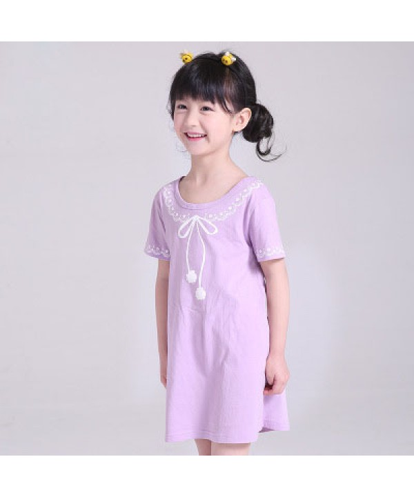 New cotton pajama set for girls comfy sleepwear can wear outside