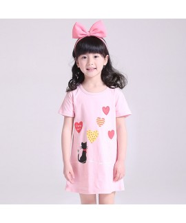 New cotton pajama set for girls comfy sleepwear ca...