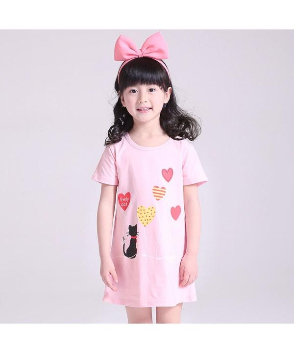 New cotton pajama set for girls comfy sleepwear ca...