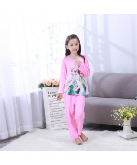 Long sleeved children's cartoon pajamas,girls Froz...