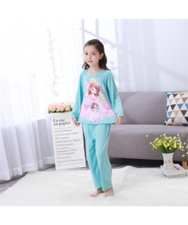 Long sleeved children's cartoon pajamas,girls Frozen queen Anna pajama