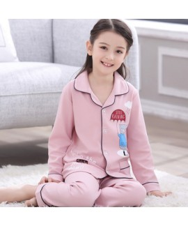 long sleeves cotton Girls Pyjamas,spring and autumn cartoon pajama sets