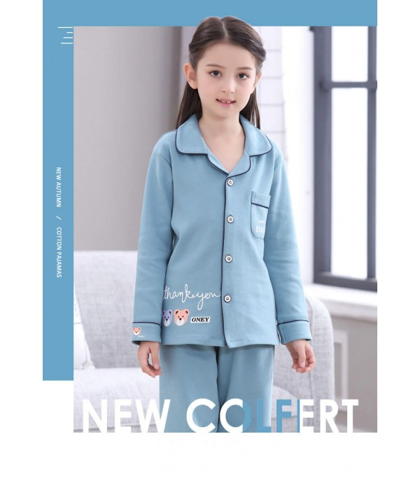 long sleeves cotton Girls Pyjamas,spring and autum...
