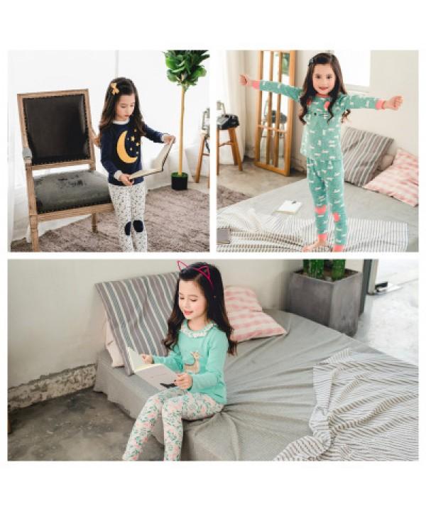 lovely girls lounge pyjamas set for spring cute comfy set of pajamas for children