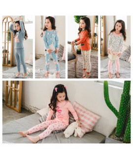 lovely girls lounge pyjamas set for spring cute comfy set of pajamas for children