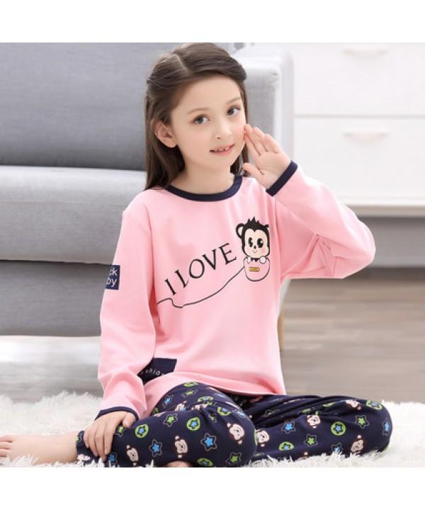 Girls Cotton print Pajama sets Spring and Autumn Long Sleeve children pajama sets