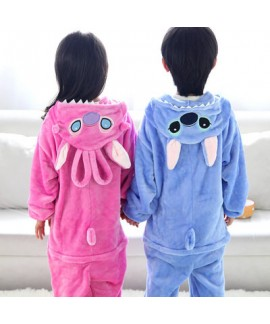 Children Dinosaur animals long sleeves pajama sets comfy flannel twins Onesie lounge pyjamas