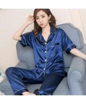 Large Size Sleepwear women Short Sleeve Loose and ...